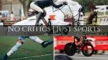 No critics just sports logo heading